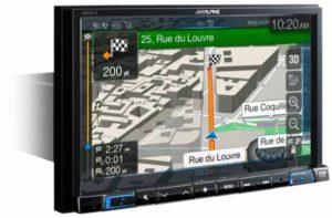 Alpine x801d u Navigation Beispiel